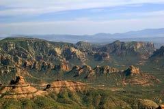Volando in canyon Fotografia Stock
