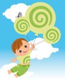 Volando con il dreamstime Fotografie Stock