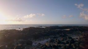 Volando dall'isola all'oceano, le Mauritius stock footage