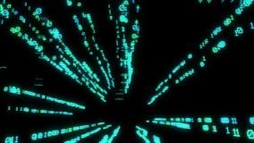 Volando dentro la realtà virtuale con il codice binario royalty illustrazione gratis