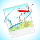 Volando intorno al mondo Immagini Stock Libere da Diritti