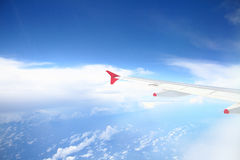 Volando nel cielo Fotografia Stock
