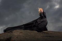 Volando nel vento Fotografia Stock Libera da Diritti