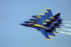 Volando nella formazione Fotografie Stock