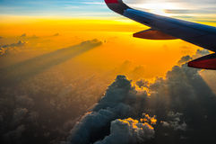 Volando per la vacanza Fotografia Stock Libera da Diritti