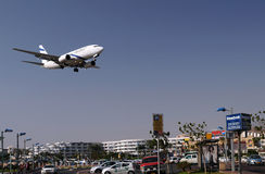 Volando sopra Eilat Fotografia Stock Libera da Diritti