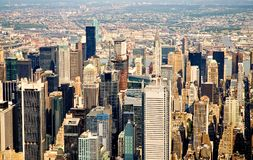 Volando sopra New York City Immagine Stock