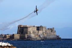 Volando su Napoli Fotografia Stock Libera da Diritti