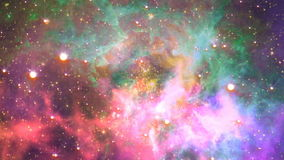 Volando a través de la nebulosa, fondo abstracto de Loopable ilustración del vector