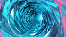 Volando in un tunnel variopinto senza fine illustrazione vettoriale