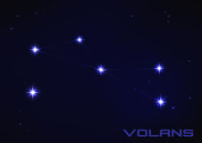 Volans constellation. Vector illustration of Volans constellation in blue Stock Images