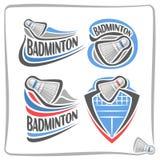 Volant abstrait de badminton de logo de vecteur Image stock