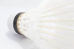 Volant blanc pour le badminton Images libres de droits