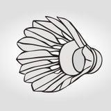Volant de badminton ou boule de badminton Vecteur Photo libre de droits
