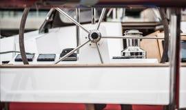 Volant de bateau de voile photo libre de droits