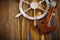 Volant en bois décoratif Images stock