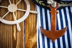 Volante de madera decorativo Foto de archivo