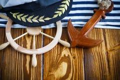 Volante de madera decorativo Fotografía de archivo libre de regalías