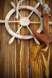 Volante de madera decorativo Imagen de archivo libre de regalías