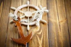 Volante de madera decorativo Foto de archivo libre de regalías