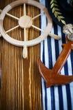 Volante de madera decorativo Fotos de archivo