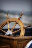 Volante della barca Immagine Stock