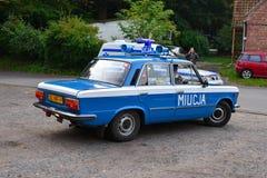 Volante della polizia d'annata ad una manifestazione di automobile Fotografie Stock Libere da Diritti