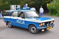 Volante della polizia d'annata ad una manifestazione di automobile Fotografia Stock Libera da Diritti