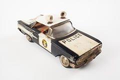 Volante della polizia d'annata del giocattolo Immagini Stock