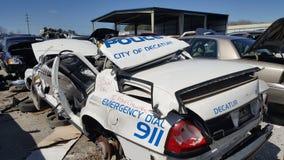 Volante della polizia demolito Immagini Stock Libere da Diritti