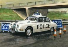 Volante della polizia di Jaguar MkII Fotografie Stock Libere da Diritti