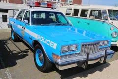 Volante della polizia di NYPD Plymouth dell'annata Immagine Stock