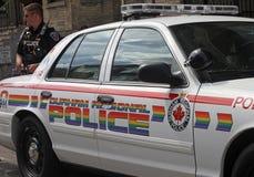 Volante della polizia di parata di orgoglio 2011 di Toronto Immagini Stock