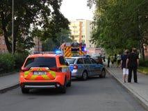 Volante della polizia e firetruck II fotografia stock libera da diritti