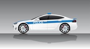 Volante della polizia elettrico illustrazione vettoriale