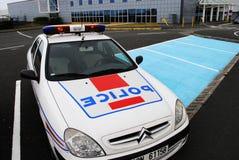 Volante della polizia francese Fotografie Stock Libere da Diritti