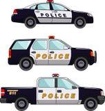 Volante della polizia su un fondo bianco in uno stile piano Fotografie Stock Libere da Diritti