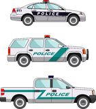 Volante della polizia su un fondo bianco in uno stile piano Fotografia Stock Libera da Diritti