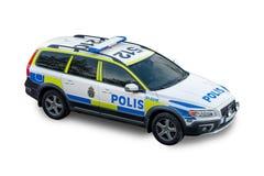 Volante della polizia svedese Fotografia Stock