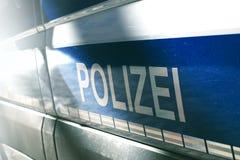 Volante della polizia tedesco fotografia stock libera da diritti