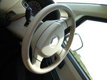 Volante di un'automobile Fotografia Stock