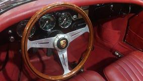 Volante do carro do vintage de Porsche Foto de Stock
