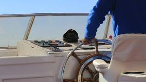 Volante sull'yacht archivi video