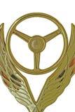 Volante y alas de oro foto de archivo libre de regalías