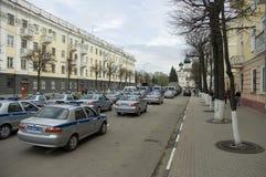 Volanti della polizia russi Fotografia Stock