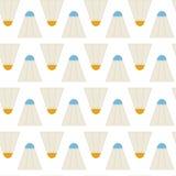 Volants sans couture de badminton de sport de modèle de vecteur plat illustration de vecteur