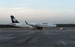 Volaris Airbus at Cancun Stock Image