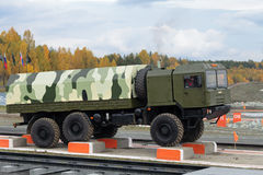 Volat. NIZHNY TAGIL, RUSSIA - SEP 26, 2013: The international exhibition of armament, military equipment and ammunition RUSSIA ARMS EXPO (RAE-2013). Freight Royalty Free Stock Photo