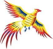 Volata dei gallinacei dell'uccello del fagiano retro royalty illustrazione gratis