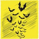 Volata dei pipistrelli Immagini Stock